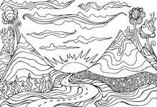 Creative Coloring Page Fantasy...