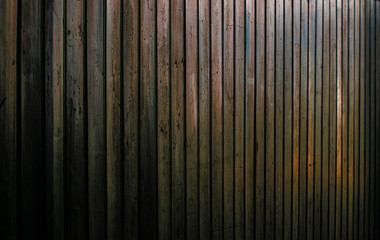 Wall coverd in Wood in the Sunset mood