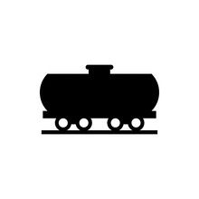 Freight Train Flat Vector Icon