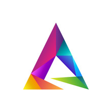 Colorful Prism Letter A Logo C...