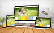 pet website responsive design screen multidevices