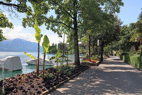 Carta da parati Montreux, Genfersee, Schweiz