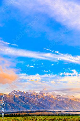 Teton Mountain at Sunset