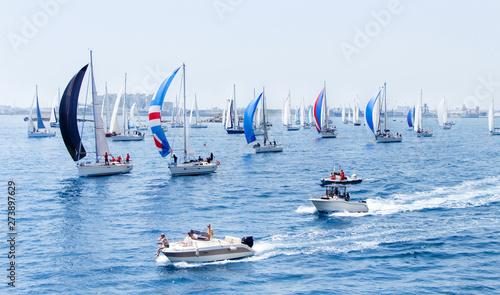 Foto Sailing yachts during regatta  Brindisi Corfu 2019