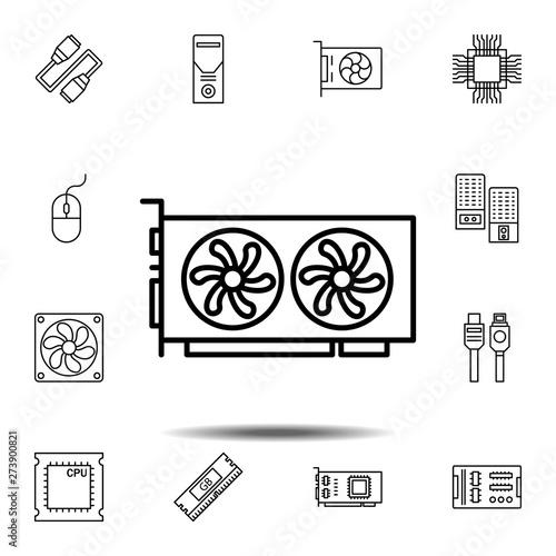Fotografia hardware, video card icon