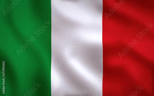 Fototapeta  Italian Flag Image Full Frame