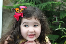 Young Girl With Butterfly On Head