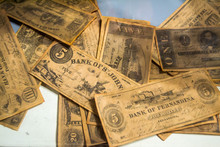 Old Vintage Money From 1800s
