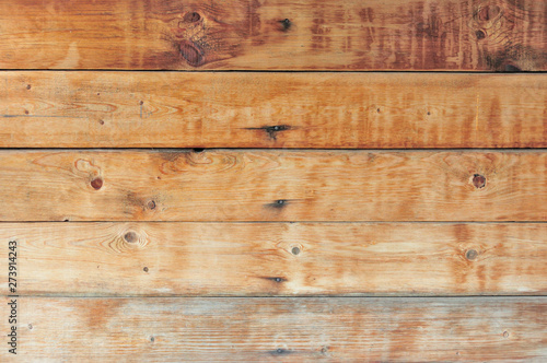 Brown natural wood texture and background, pine slab and coniferous fence, for design