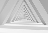 Fototapeta Perspektywa 3d - Abstract 3d triangle shaped tunnel
