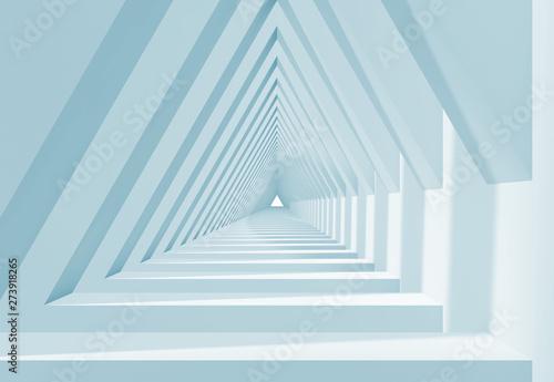 Naklejki na meble 3d biały tunel w kształcie trójkąta