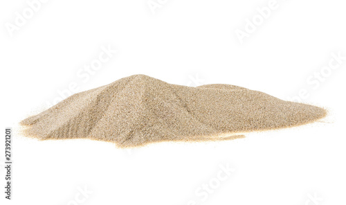 Fotografija Pile of river sand isolated on a white background
