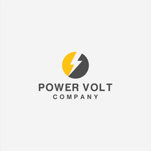 Volt Electric Charge Logo Icon...