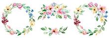 Watercolor Flowers, Floral Mea...