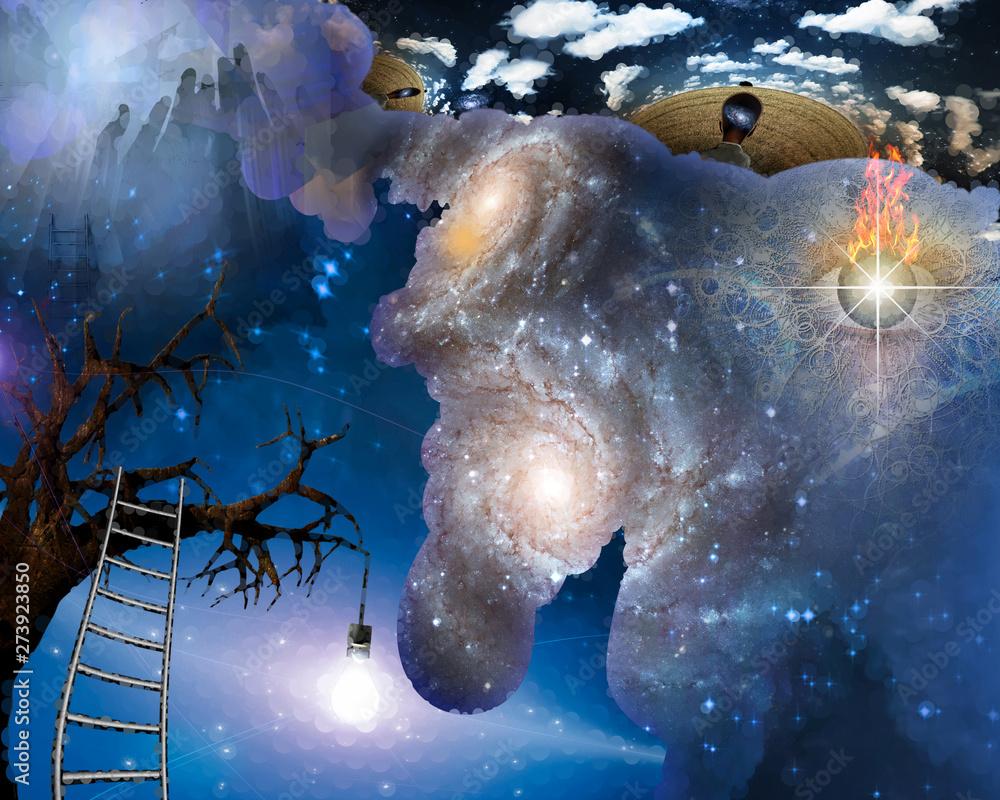 Fototapeta Thoungts about Universe