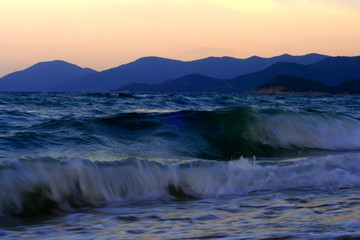 Fototapeta Morze sunset over the sea