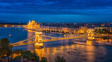 Panorama Of Budapest At Night....