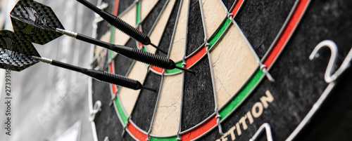 Fotografia .darts game in detail. Darts strategy and rules