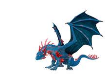 Crystal Dragon In White Backgr...