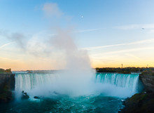 Niagara Falls In Evening Under...