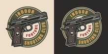 Vintage Military Colorful Logotype