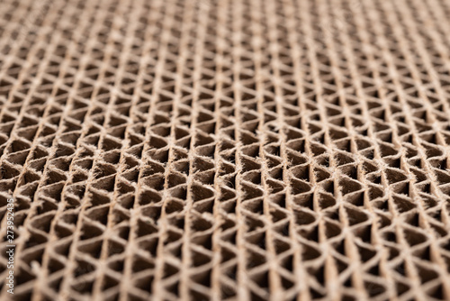 Foto  cross section of cardboard corrugated pattern as baskground and texture at an an