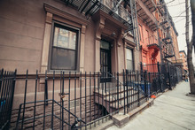 New York City Pre-war Type Typycal Buildings On City Street