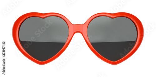 Fotografiet Red Heart Sunglasses Front View