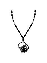 Schmuck Bier Halskette Maß Krug Glas Trinken Alkohol Gebiet Durst Saufen Betrunken Party Oktoberfest Nüchtern Freunde Team Crew Lustig Betrinken Clipart Design