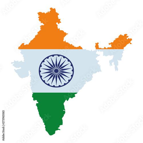map of india icon cartoon Fototapete