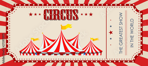 Fotomural  A circus ticket template