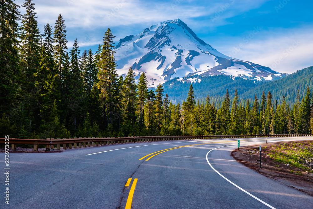Fototapeta Beautiful Clear Skies Over Mount Hood in Oregon
