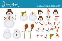 Snowman Christmas Character Constructor Body Parts And Accessories