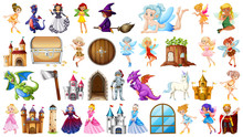 Set Of Medieval Character