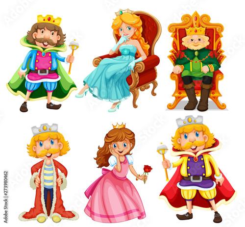 Set of fantasy cartoon character