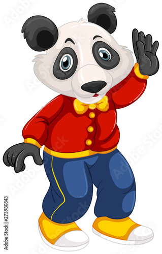 Fotobehang Kids Cute panda cartoon character