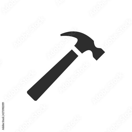 Fotografía Hammer icon template black color editable