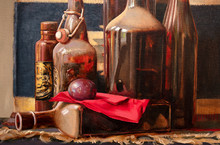 Still Life, Oil Painting, Handmade Drawing
