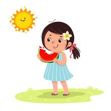 Cute Little Girl Feeling Happy...