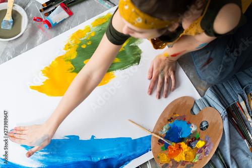 Finger painting hobby Fototapeta