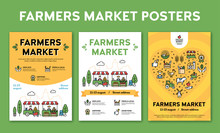 Vector Farmers Market Event Po...