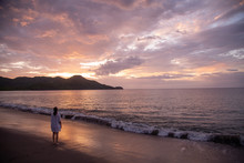 Sunset At Guanacaste Beach In ...