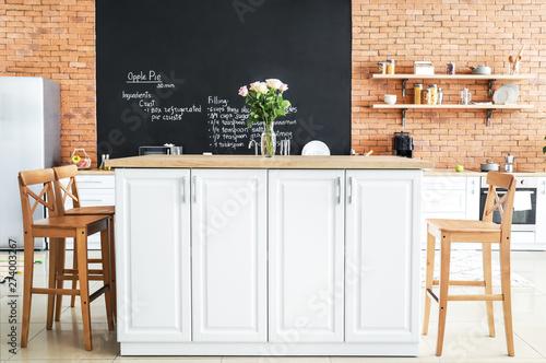 Fotografía  Interior of modern comfortable kitchen