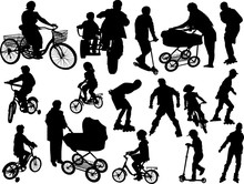 Child Transport Collection Isolated On White