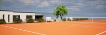 Vue 3d Terrain De Tennis Priv