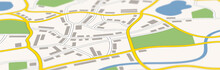A Generic City Map Banner