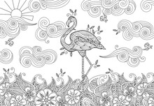 Coloring Page With Doodle Styl...