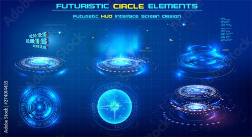 Fotografia, Obraz  Elements Sci-Fi Modern circle For Graphic Motion