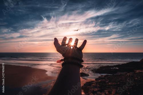 Fototapeta  Atardecer con colores preciosos