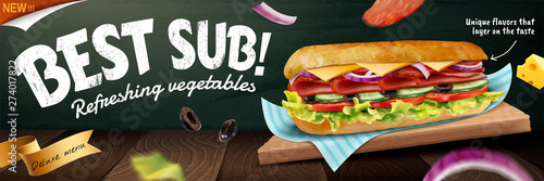 Delicious submarine banner ads